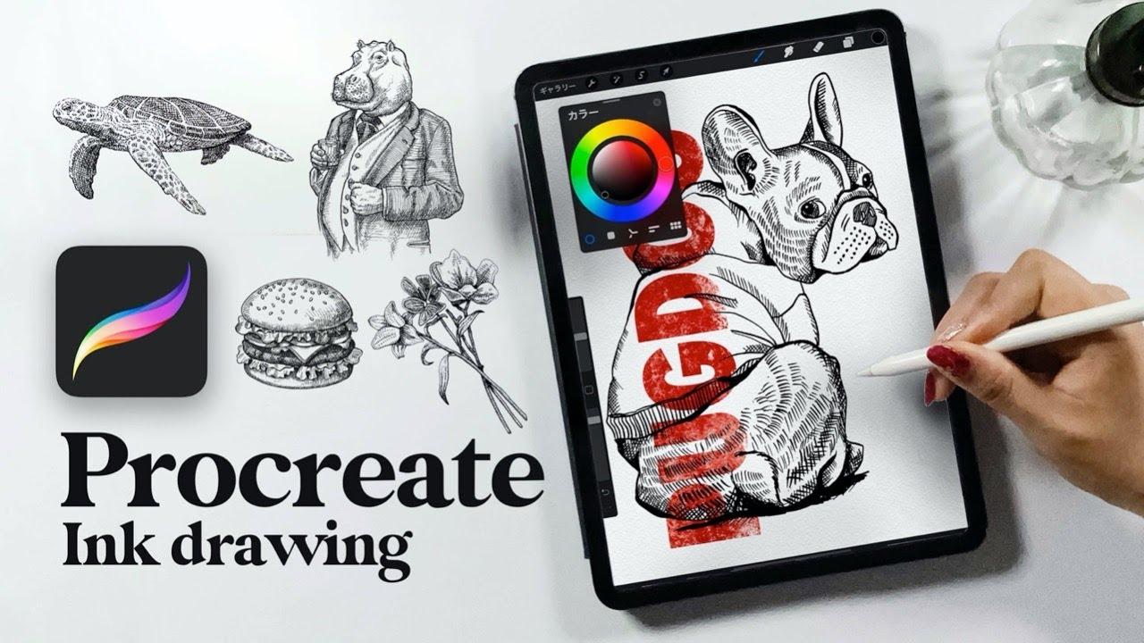 iPadセミナー「Procreateを使ったおしゃれ線画アートの描き方」を公開